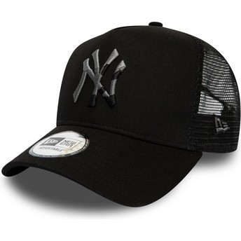 New Era Camouflage Logo InFill A Frame New York Yankees MLB Black Trucker Hat