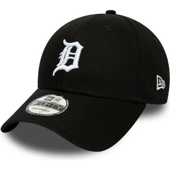 New Era Curved Brim 9FORTY League Essential Detroit Tigers MLB Black Adjustable Cap