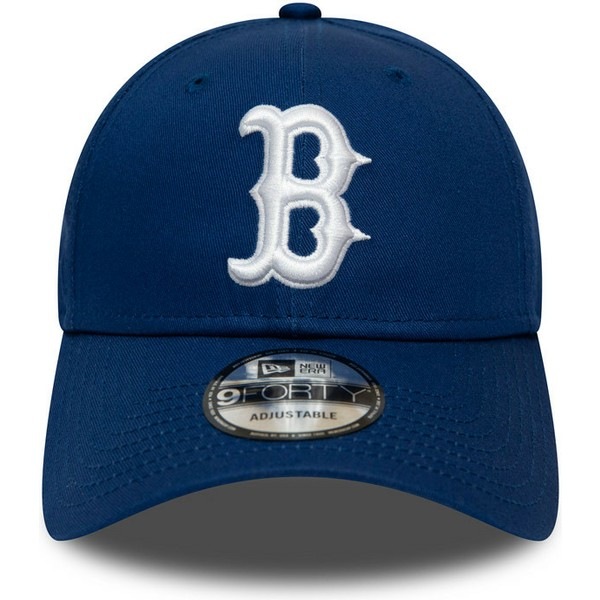 new-era-curved-brim-9forty-league-essential-boston-red-sox-mlb-blue-adjustable-cap
