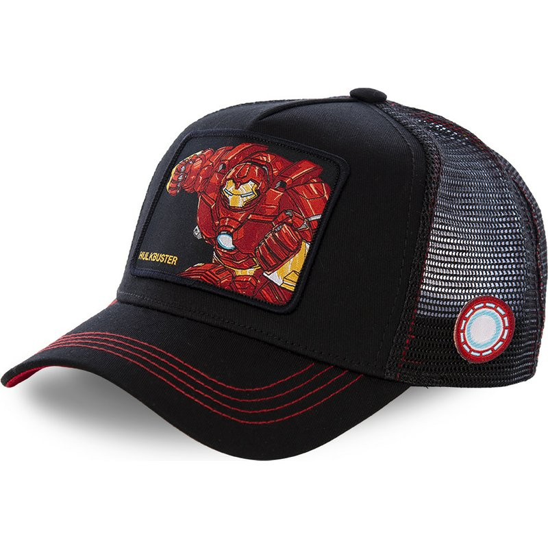 capslab-iron-man-hulkbuster-bus2-marvel-comics-black-trucker-hat