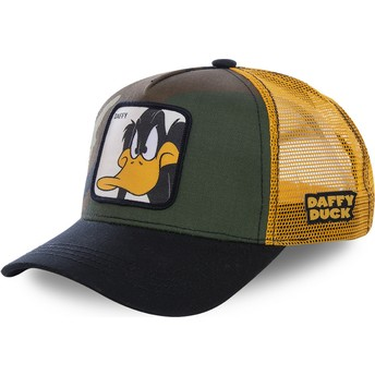 Capslab Daffy Duck DAF4 Looney Tunes Camouflage, Yellow and Black Trucker Hat