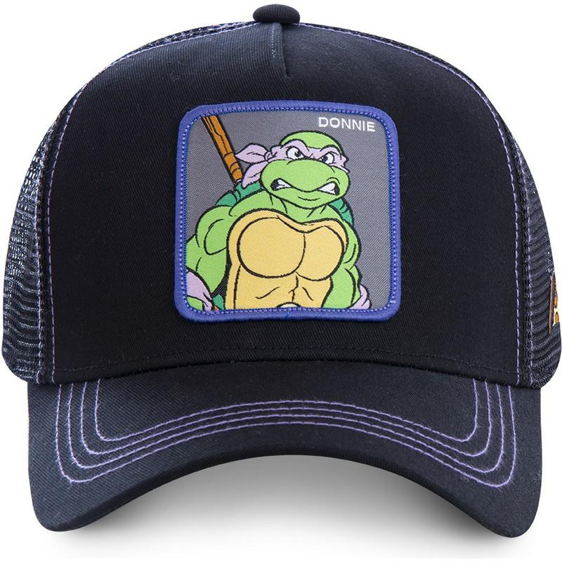 on sale bd4ec 20f7b Capslab Donatello DON Teenage Mutant Ninja Turtles Black Trucker Hat  Shop  Online at Caphunters