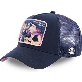 Capslab Vegeta Vs Buu Warrior's Decision FIN1 Dragon Ball Navy Blue Trucker Hat