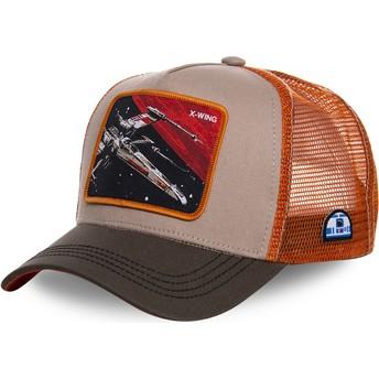 Capslab X-wing starfighter LTD5 Star Wars Grey and Orange Trucker Hat