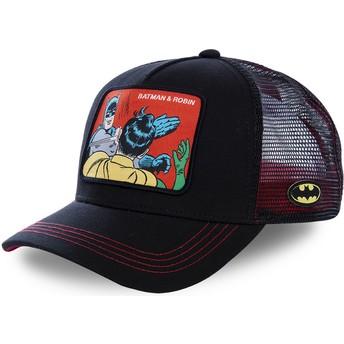 Gorra trucker negra Batman & Robin MEM2 DC Comics de Capslab