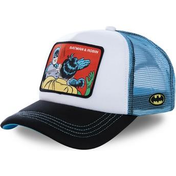 Capslab Batman & Robin MEM4 DC Comics White and Blue Trucker Hat