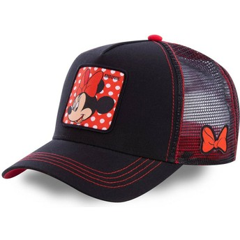 Capslab Minnie Mouse MIN1 Disney Black Trucker Hat
