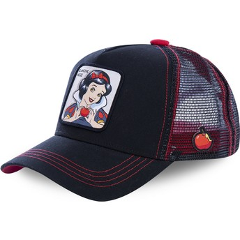 Capslab Snow White SNO1 Disney Black Trucker Hat