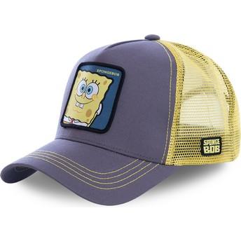 Capslab SpongeBob SquarePants SPO Grey and Yellow Trucker Hat