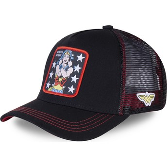 Capslab Wonder Woman WON2 DC Comics Black Trucker Hat