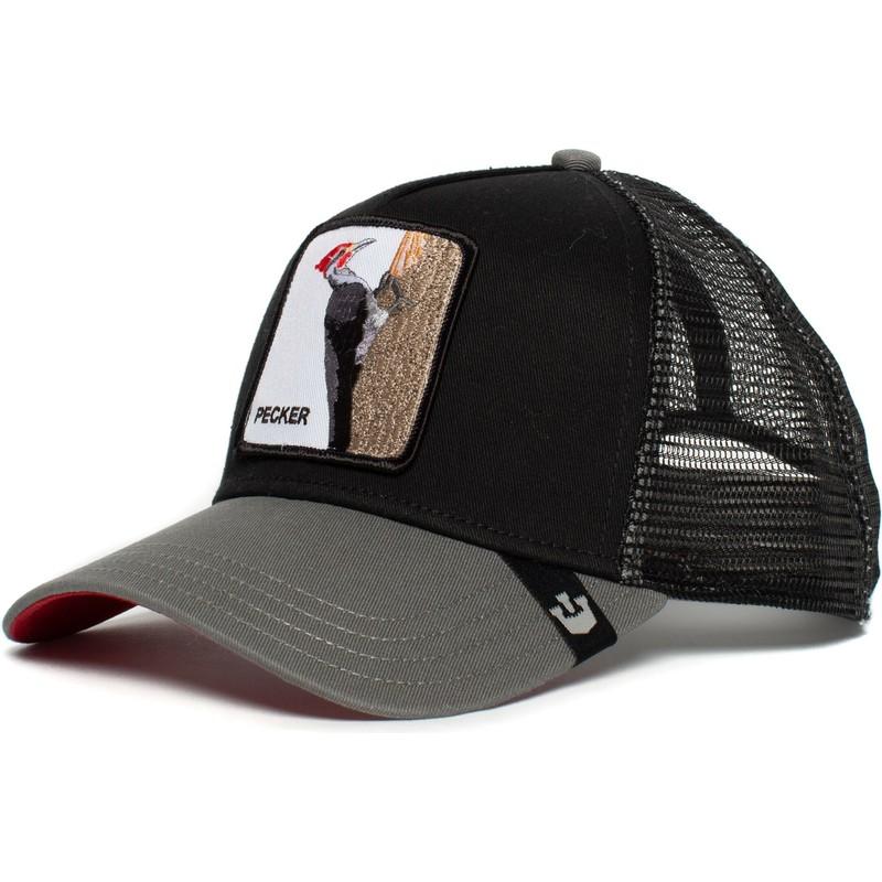 bc64a1ee Goorin Bros. Woodpecker Woody Wood Black Trucker Hat: Shop Online at ...