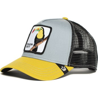 Gorra trucker gris y amarilla tucán Iggy Narnar de Goorin Bros.