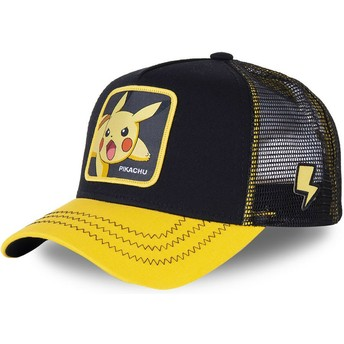 Capslab Pikachu PIK6 Pokémon Black and Yellow Trucker Hat