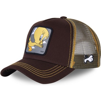 Gorra trucker marrón Piolín TIT1 Looney Tunes de Capslab
