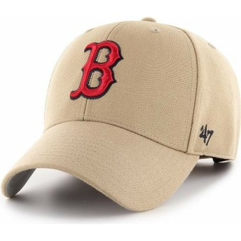 47 Brand Curved Brim MVP Boston Red Sox MLB Khaki Adjustable Cap