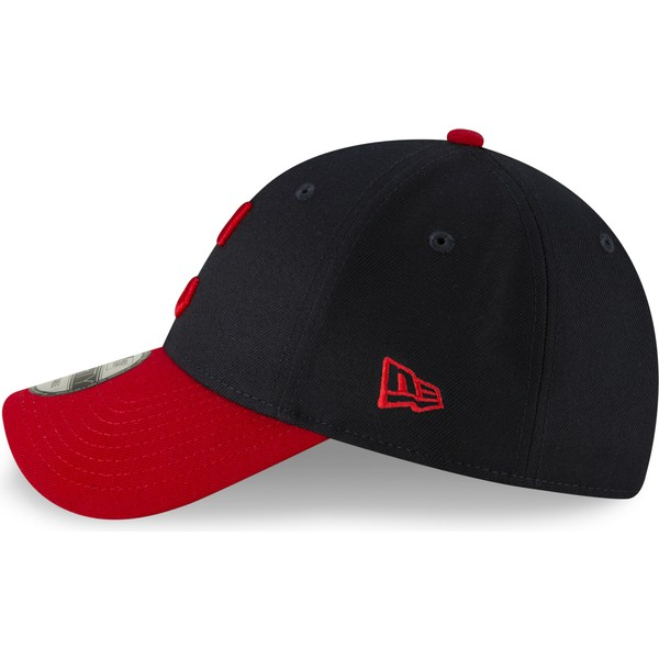 new-era-curved-brim-9forty-the-league-cleveland-indians-mlb-navy-blue-and-red-adjustable-cap