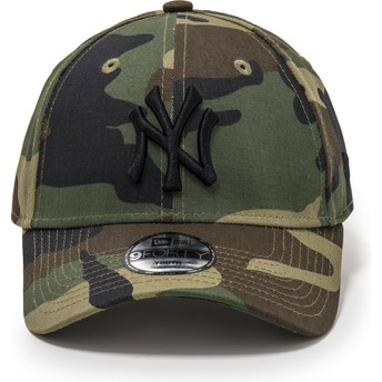 New Era Curved Brim Youth 9FORTY League Essential New York Yankees MLB Camouflage Adjustable Cap