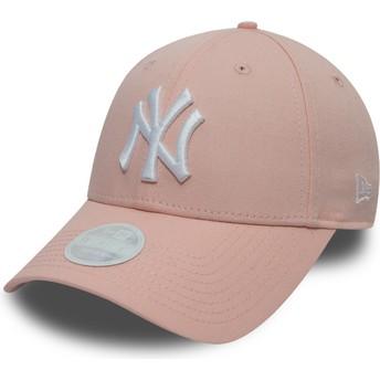 Gorra curva rosa ajustable 9FORTY League Essential de New York Yankees MLB de New Era