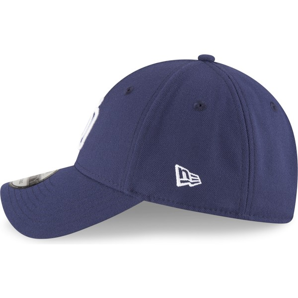 12b889a4a New Era Curved Brim 9FORTY The League San Diego Padres MLB Navy Blue  Adjustable Cap