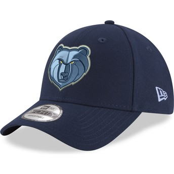 Gorra curva azul ajustable 9FORTY The League de Memphis Grizzlies NBA de New Era