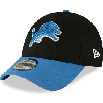 New Era Curved Brim 9FORTY The League Detroit Lions NFL Black Adjustable Cap
