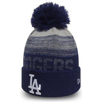 Gorro azul con pompón Cuff Knit Sport de Los Angeles Dodgers MLB de New Era