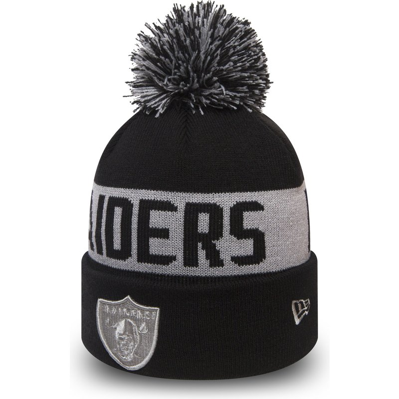 new-era-cuff-knit-team-tonal-oakland-raiders-nfl-black-beanie-with-pompom