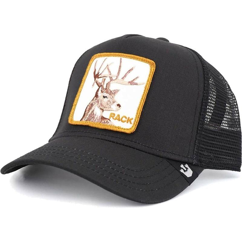 5db3592f2 Goorin Bros. Deer Rack It Black Trucker Hat
