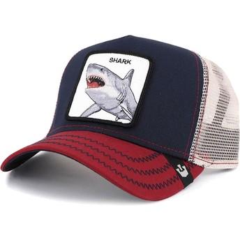 Gorra trucker azul marino tiburón Big Shark de Goorin Bros.