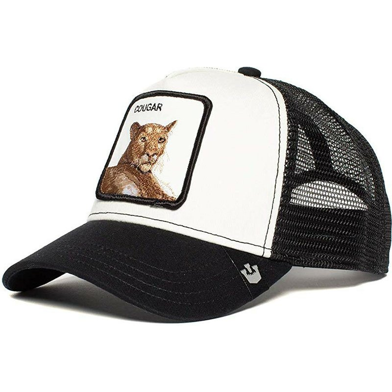 7fcfaf27a Goorin Bros. Cougar Meow Meow Black and White Trucker Hat