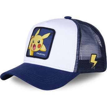Gorra trucker blanca y azul Pikachu PIK8 Pokémon de Capslab