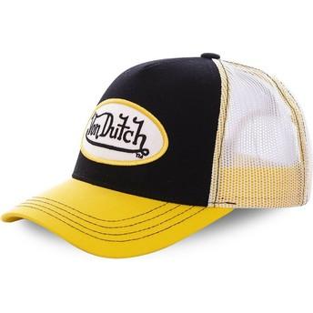 Gorra trucker negra y amarilla COL BLA de Von Dutch