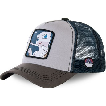 Capslab Mew MEW1 Pokémon Grey and Blue Trucker Hat