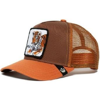 Gorra trucker marrón para niño tigre Wild Tiger de Goorin Bros.