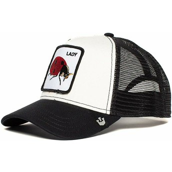 Goorin Bros. Lady Bug White and Black Trucker Hat