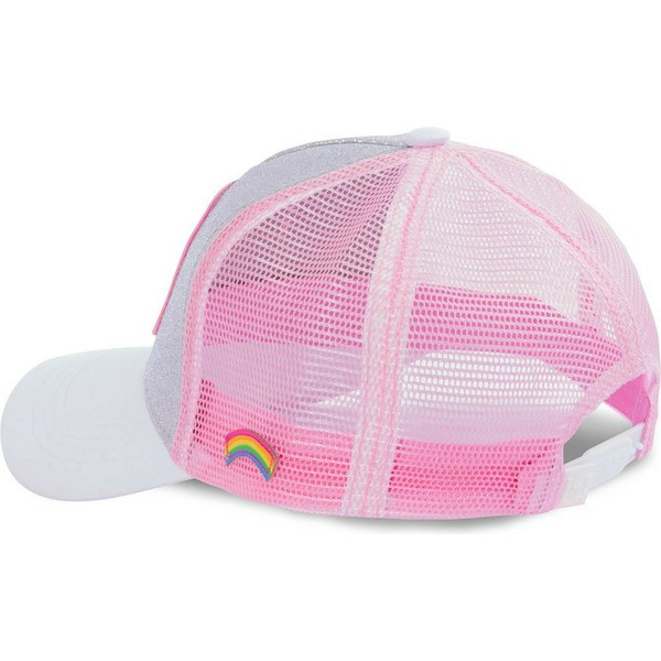 capslab-cheer-bear-cal-care-bears-grey-and-pink-glitter-trucker-hat