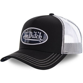 Von Dutch CARD1 Black and White Trucker Hat