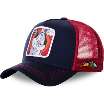 Capslab Bugs Bunny BUN5 Looney Tunes Navy Blue and Red Trucker Hat