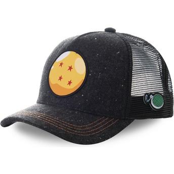 Gorra trucker negra Bola de Dragón 4 Estrellas CRI1 Dragon Ball de Capslab