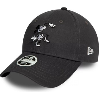 New Era Curved Brim 9FORTY Minnie Mouse Disney Grey Adjustable Cap