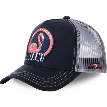 Von Dutch Miami FL1 Navy Blue and Grey Trucker Hat