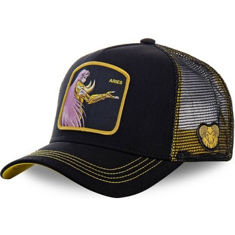 Capslab Aries ARI Saint Seiya: Knights of the Zodiac Black Trucker Hat