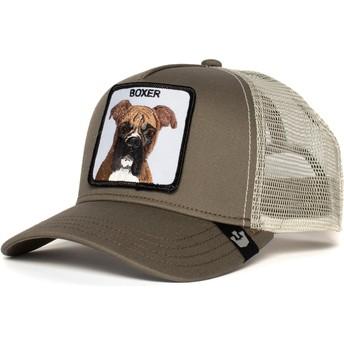 Gorra trucker gris perro bóxer Boxer de Goorin Bros.