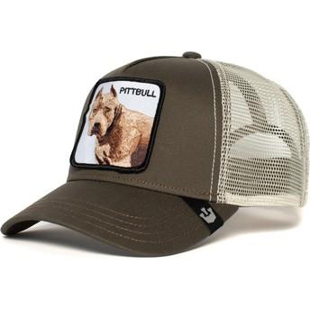 Gorra trucker gris perro Pitbull de Goorin Bros.