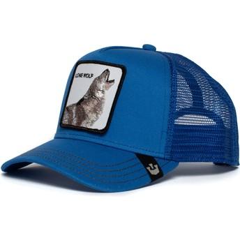 Goorin Bros. Strong Wolf Blue Trucker Hat