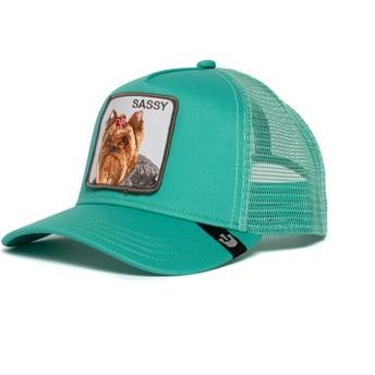 Gorra trucker verde perro Yorkshire terrier Sassy Lady de Goorin Bros.