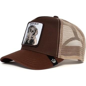 Gorra trucker marrón para niño perro Puppy Dog Eyes de Goorin Bros.