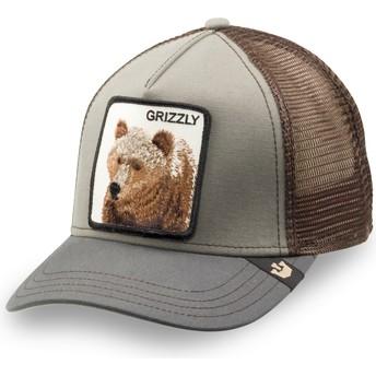 Gorra trucker verde para niño oso Little Grizzly de Goorin Bros.