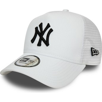 Gorra trucker blanca con logo negro Essential A Frame de New York Yankees MLB de New Era