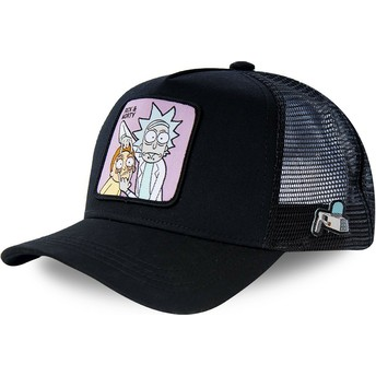 Capslab LOO1 Rick and Morty Black Trucker Hat